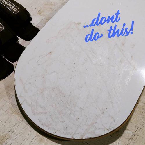 Waxing the board wrong!